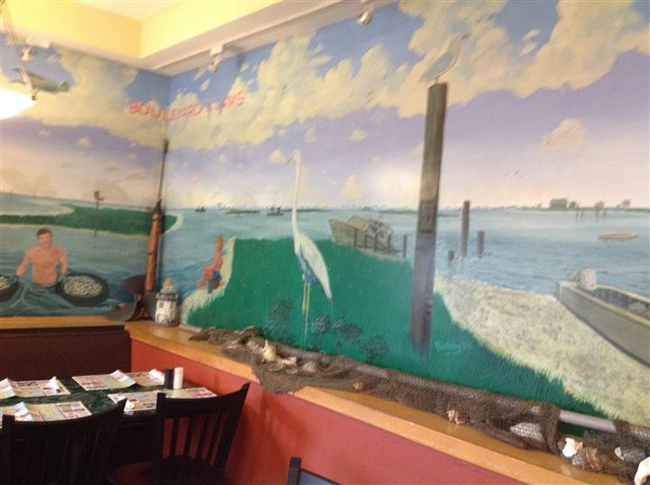 wall painted inside restaurant