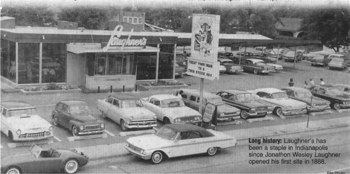 Vintage photo of Diner  and parking lot