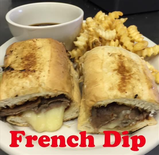 French dip sandwich with french fries