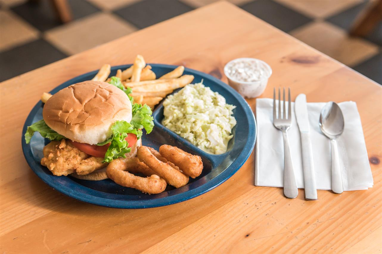 Cracker Meal Catfish Sandwich Plate