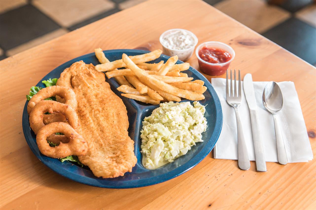 Fried Cracker Meal Catfish Plate