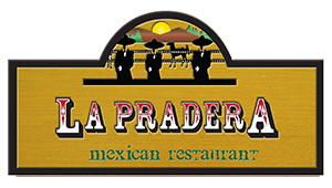 La Pradera mexican restaurant written on an illustrated wooden sign