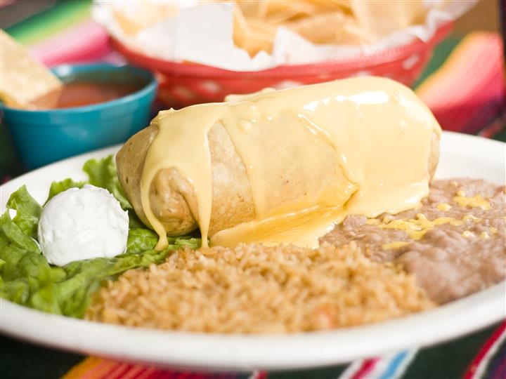 Chimichanga with Queso