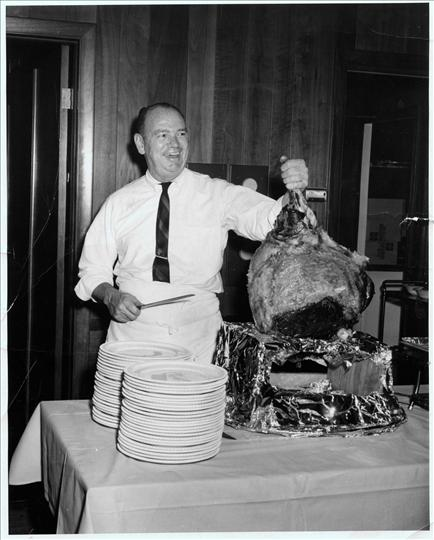 R. Russell Morin catering a function at Highland Country Club    1969