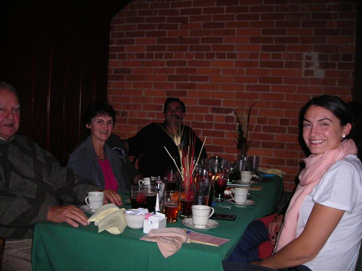Group photo at dining table