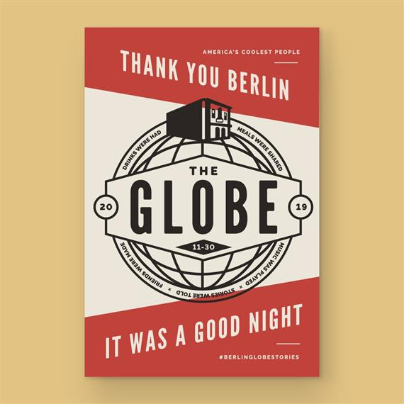 """""""Thank you Berlin, it was a good night"""" flyer"""