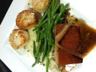 Scallops and String Beans