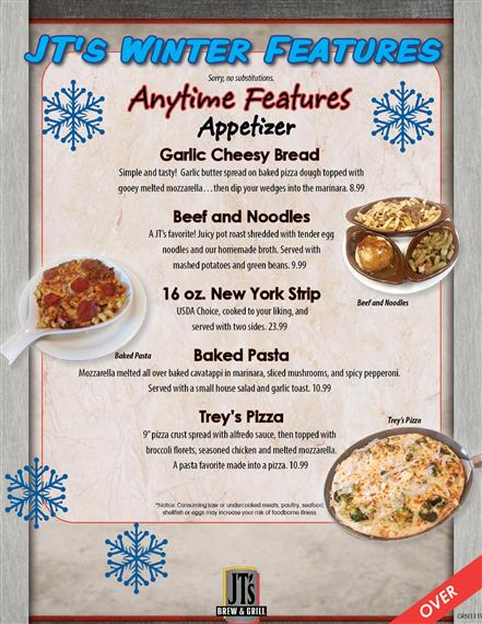 JT's Winter Features for Greenville location - page 1