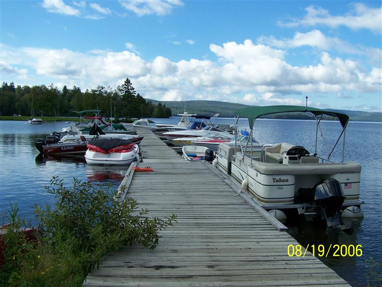 boats on a dock