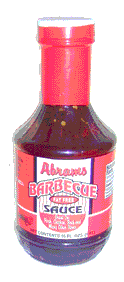 Abrams barbecue sauce bottle