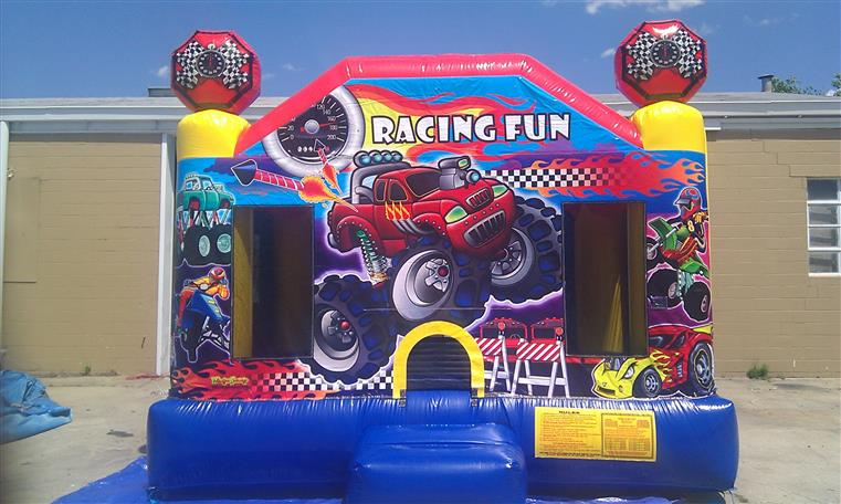 Racing fun bouncey house