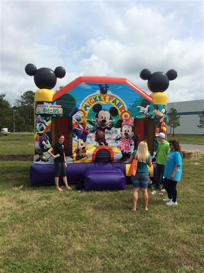 inflatable mickey park bounce house