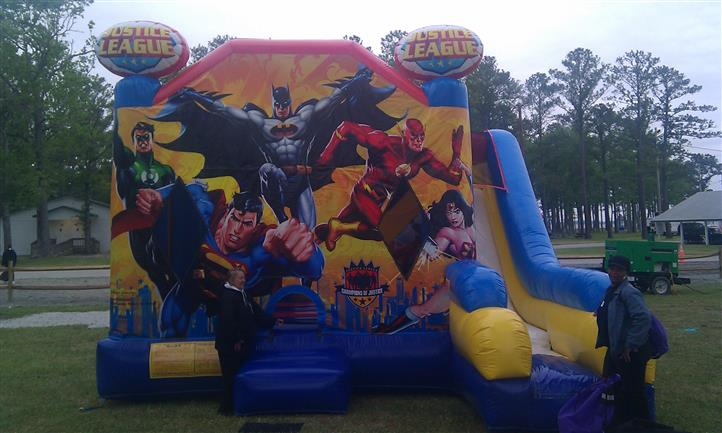 inflatable justice league slide