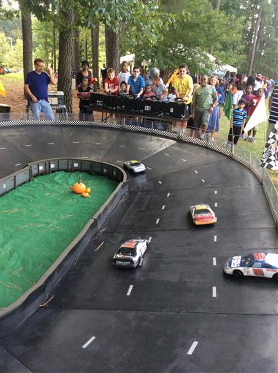 customers racing toy cars