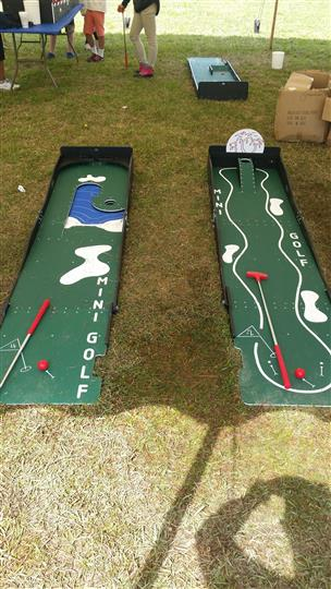 two mini golf courses