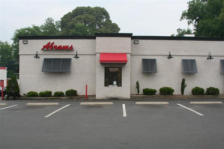 the outdoor view of Abrams restaurant