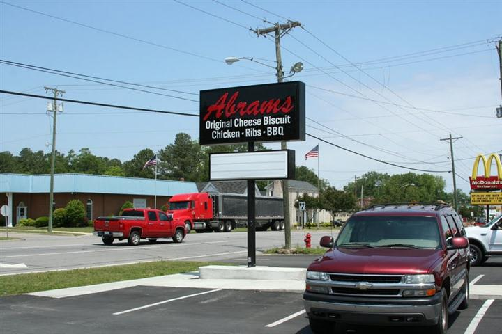 outdoor Abrams sign