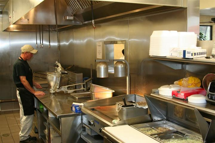 inside view of the kitchen