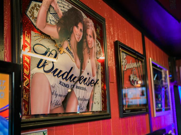 Posters in frames of Budweiser