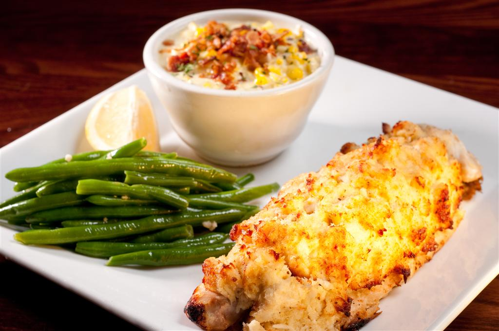 crab cakes with two sides