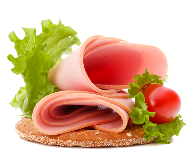 ham, lettuce, tomato on a cracker