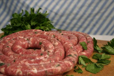 Cheese & Parsley Thin Sausage