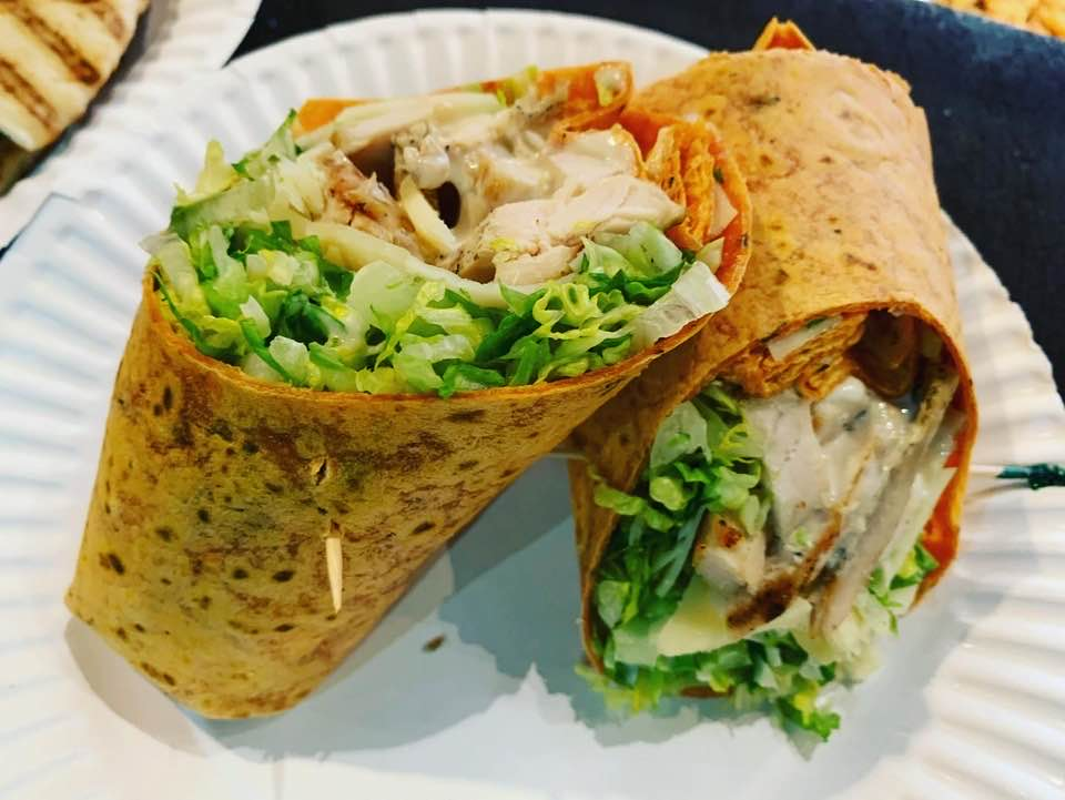 chicken and lettuce wrap