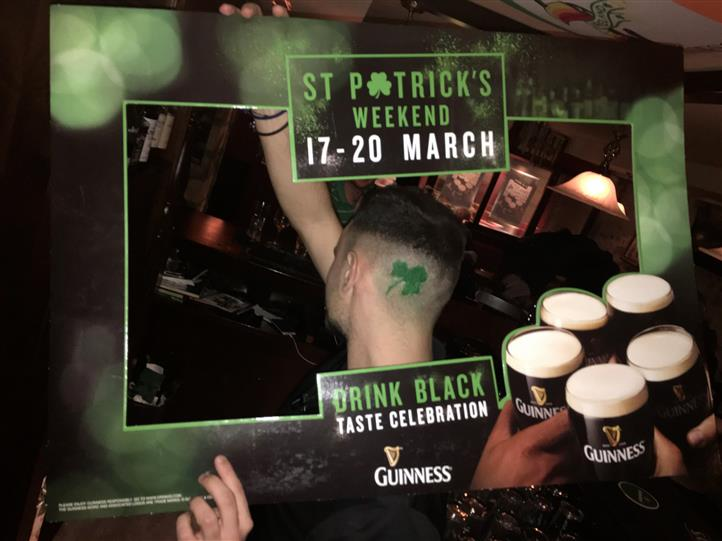 A St. Patrick's weekend picture frame