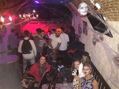 A photo of a Hlloween party at the pub