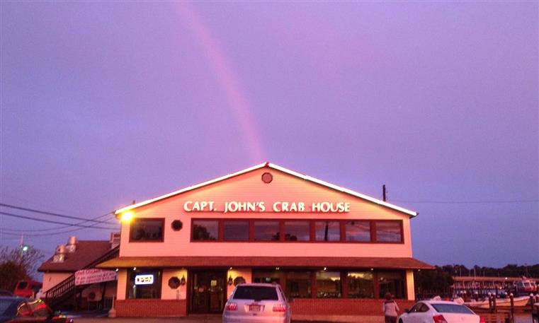 front view of captain john's crabhouse