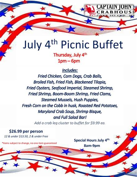 fourth of july picnic buffet