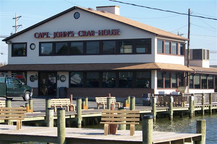 front view of captain john's