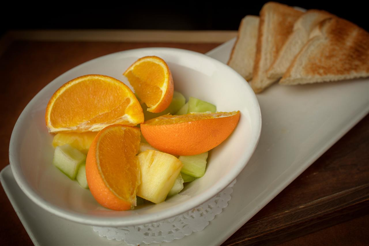 Fruit Plate and Toast