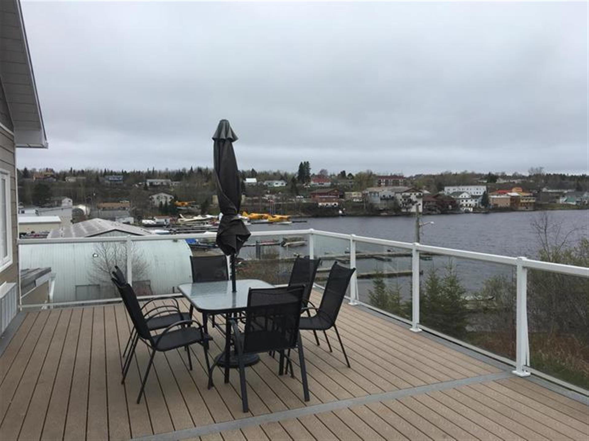 Deck area and view