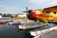 Two docked sea planes