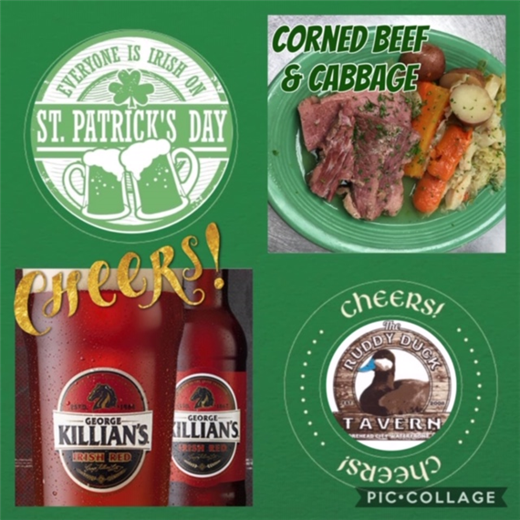 everyone is irish on saint patricks day. corned beef and cabbage. cheers!