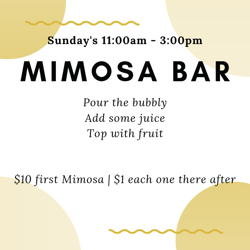 Mimosar Bar Sunday Flyer
