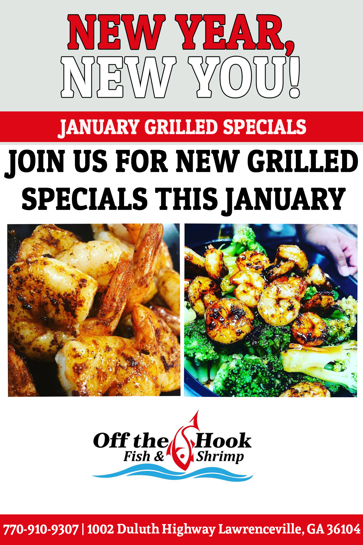January Grilled Specials