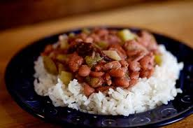 beans over rice