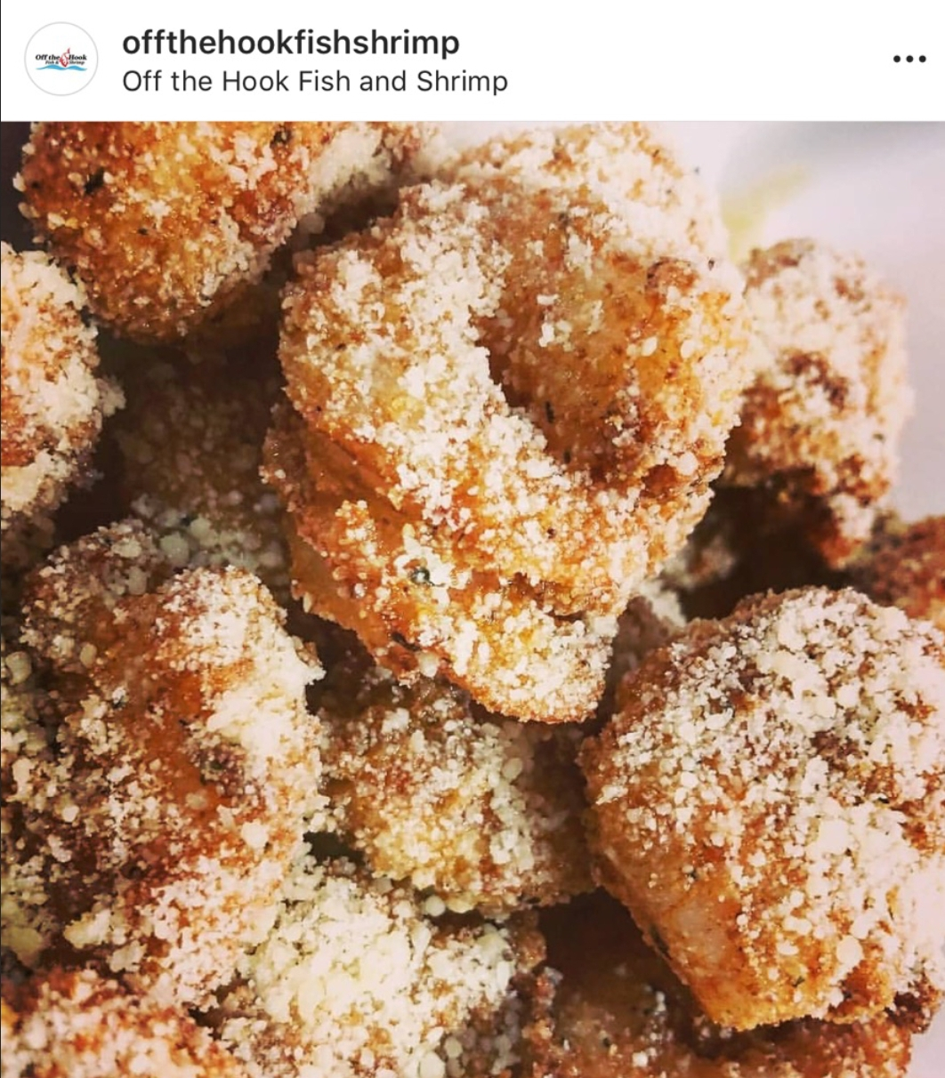 fried shrimp with parmesan cheese