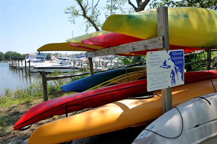 Canoes on canoe rack