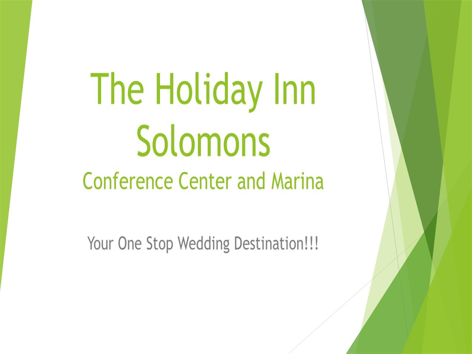 The holiday inn solomons conference center and marina. Your one-stop wedding destination!