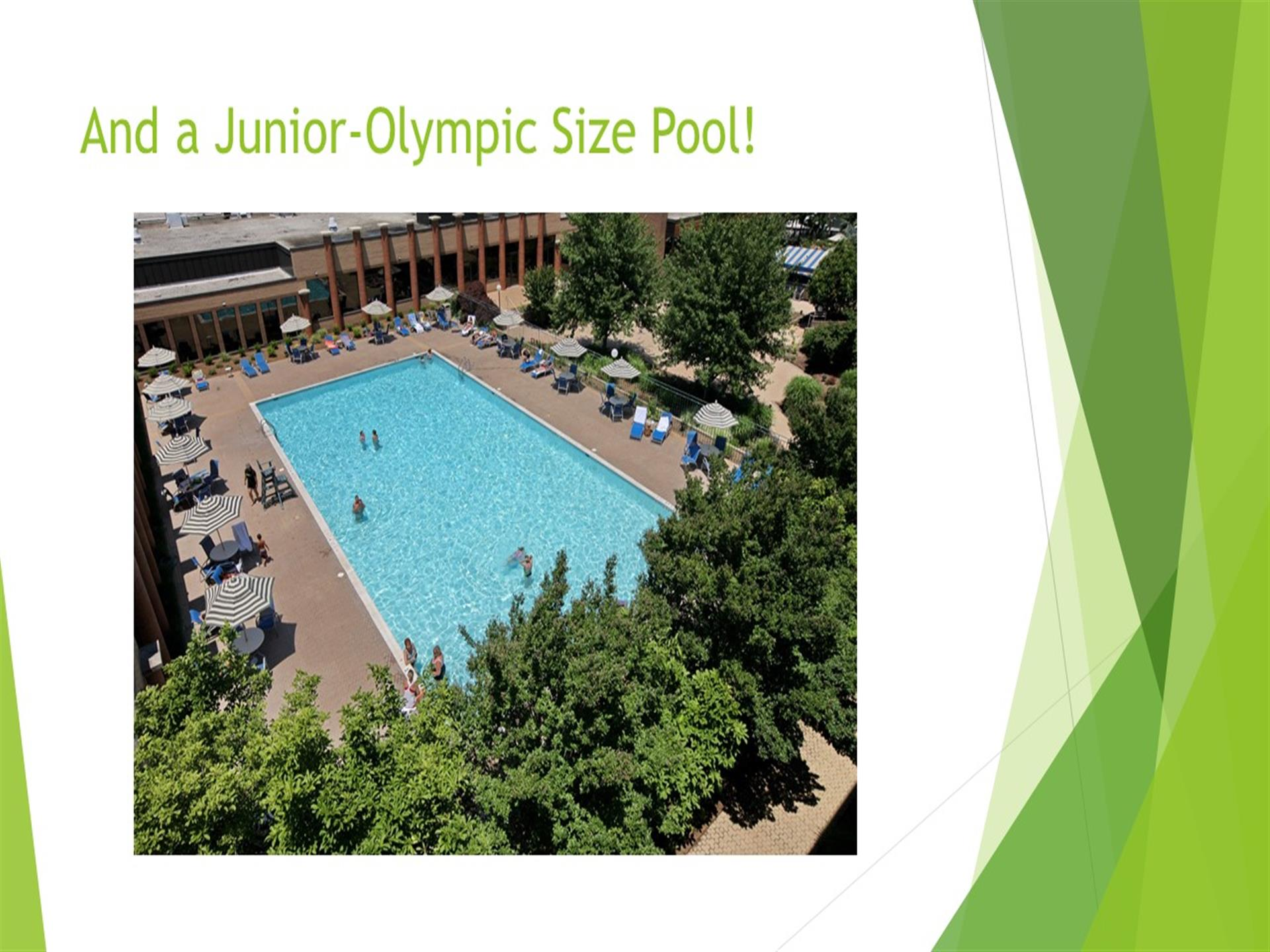 Junior olympic size pool aerial view