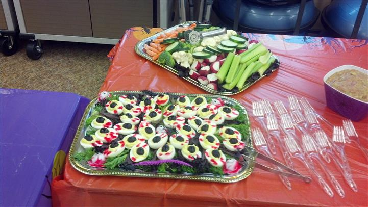 catering trays of appetizers