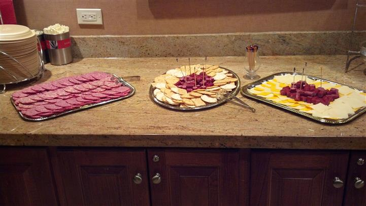 party trays with appetizers