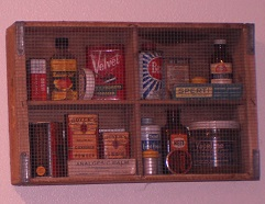 shelf with spices