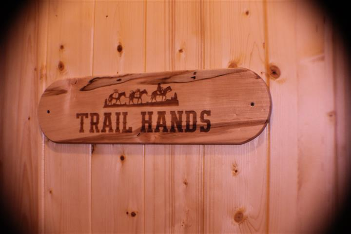 """Wall art that reads """"Trail Hands"""""""