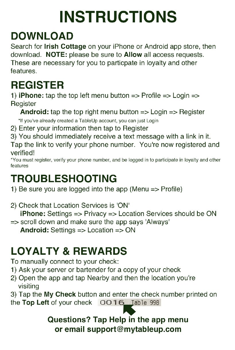 Loyalty Reward Instructions