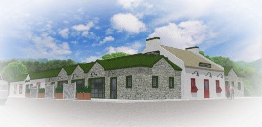 Digital rendering of the irish cottage exterior