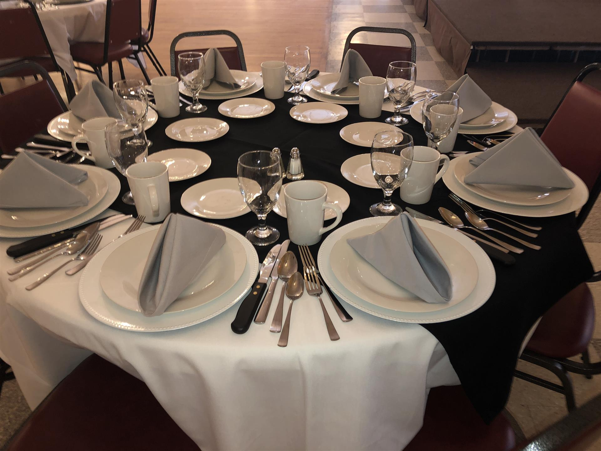 Tables with plates